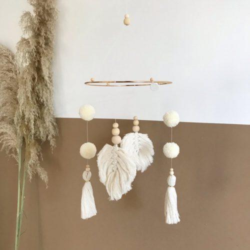 Cotton-design-boho-mobile