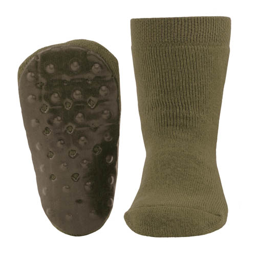 Awers-sokken-anti-slip-olijf