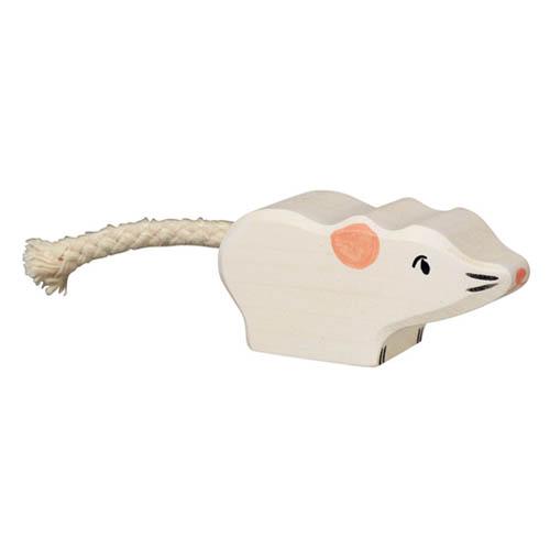 Holztiger-muis-wit