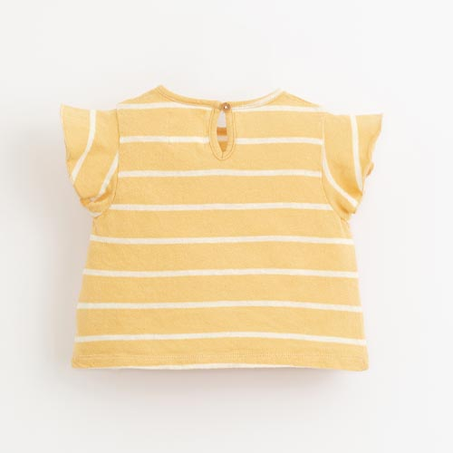 Play-up-striped-jersey-t-shirt-Straw
