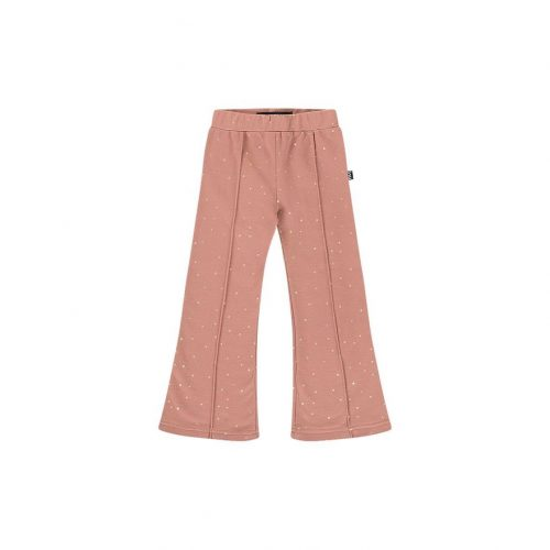 house-of-jamie-flared-pants-dusty-mauve-golden-dots