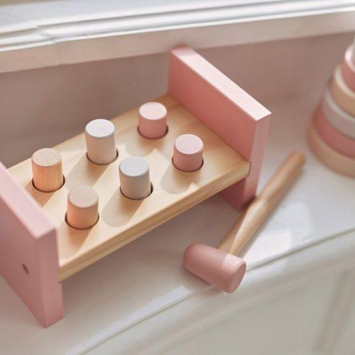 jollein-houten-hamerbank-pink