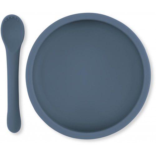 siliconen-bordje-lepel-baby-konges-slojd-blauw
