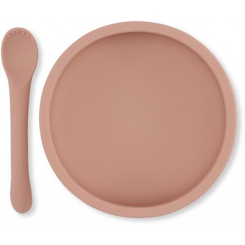 siliconen-bordje-lepel-baby-konges-slojd-rose
